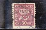 Stamps : Europe : Sweden :  Corneta de correos y corona