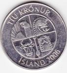 monedas del Mundo : Europa : Islandia :  f anverso