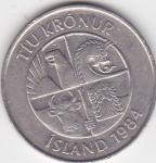 monedas del Mundo : Europa : Islandia :  g anverso