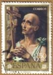Stamps Spain -  LUIS DE MORALES 'EL DIVINO' - San Jeronimo