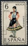 Stamps Spain -  ESPAÑA_SCOTT 1423.01 TRAJE TIPICO MALAGA. $0,2