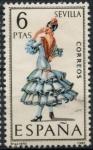 Stamps Spain -  ESPAÑA_SCOTT 1435.04 TRAJE TIPICO SEVILLA. $0,2