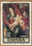 Sellos de Europa - España -  LUIS DE MORALES 'EL DIVINO' - Virgen con Jesus y Juan