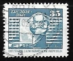 Stamps Germany -  Karl-Marx-Monument