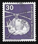 Stamps Germany -  Helicoptero de rescate