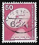 Stamps Germany -  Raisting earth station