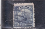 Stamps : America : Cuba :  barco
