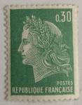 Stamps : Europe : France :  Republique Française 0,30