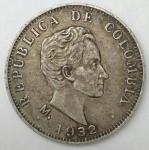 monedas del Mundo : America : Colombia :  1932 plata 50 centavos