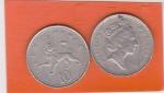 monedas del Mundo : Asia : Reino_Unido :  Reina Elizabeth II