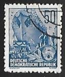 Stamps : Europe : Germany :  Barco en el astillero