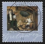 "Stamps : Europe : Germany :  ""The poor Poet""; Painting by Carl Spitzweg"