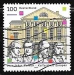 Sellos de Europa - Alemania -  German Nationaltheater