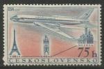 Sellos del Mundo : Europa : Checoslovaquia : Airline: Moscow-Prague-Paris