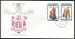 Stamps : Oceania : Fiji :  25 Aniversario coronación Elizabeth II - sobres de primer día