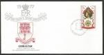 Stamps : Europe : Gibraltar :  25 Aniversario coronación Elizabeth II - sobres de primer día