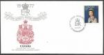 Stamps : America : Canada :  25 Aniversario coronación Elizabeth II - sobres de primer día
