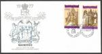 Stamps : Africa : Mauritius :  25 Aniversario coronación Elizabeth II - sobres de primer día