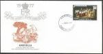 Stamps : America : Anguila :  25 Aniversario coronación Elizabeth II - sobres de primer día