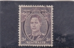Stamps : Oceania : Australia :  rey George VI