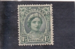 Stamps : Oceania : Australia :  Isabel reina madre
