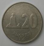 monedas de America - Ecuador -  1988 - 20 sucres