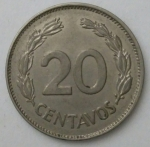 monedas de America - Ecuador -  1962 - 20 centavos