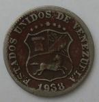 monedas de America - Venezuela -  1938- 5 centimos