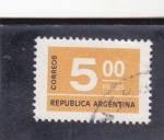 Sellos de America - Argentina -  CIFRAS