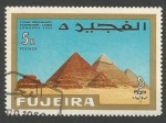 Stamps of the world : United Arab Emirates :  FUJEIRA - Intl. Stamp Exhibition, Cairo: 100 years of Egyptian stamps