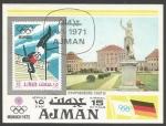 Sellos de Asia - Emiratos Árabes Unidos -  Juegos Olímpicos, Münich, Alemania (minisheet)