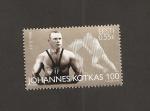 Stamps Estonia -  Centenario nacimiento luchador Johannes Kotkas