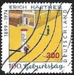 Stamps Germany -  Birth Centenary of Erich Kastner
