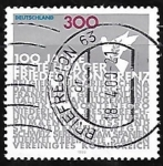 Stamps Germany -  Centenary of First Peace Conference, The Hague