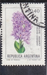 Stamps Argentina -  flores- CANALOTE-AGUAPEY