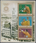 Sellos de Asia - Bhután -  Olympic Games - Munich, Germany (Hoja souvenir)