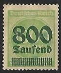 Sellos de Europa - Alemania -  Surch with new value in Tausend or Millionen