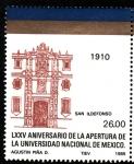 Stamps Mexico -  75 Aniversario de la apertura de la universidad de México