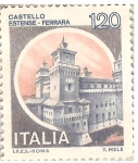 Sellos del Mundo : Europa : Italia : Italia 120L - Castello Estense - Ferrara
