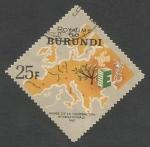 Sellos del Mundo : Africa : Burundi : Europa and EUROPA emblems (1965)