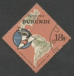 Sellos del Mundo : Africa : Burundi : The Americas and Alliance for Progress emblem (1965)