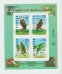 Stamps : America : Honduras :  Hoja de Sellos de Aves MNH
