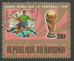Sellos del Mundo : Africa : Burundi : Play Scenes, FIFA Cup (1974)