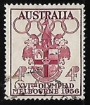 Stamps Australia -  Olympic Games 1956 - Melbourne
