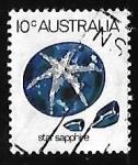 Stamps Australia -  Star Sapphire
