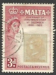 Stamps : Europe : Malta :  The 100th Anniversary of the First Malta Stamp
