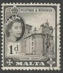 Stamps : Europe : Malta :  Victory Church, Valetta