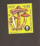 Stamps : Europe : Estonia :  setas estonias:sombrerillo de telearaña, venenosa