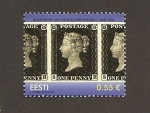 Stamps : Europe : Estonia :  175 Aniv. emisión 1er sello
