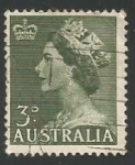 Stamps : Oceania : Australia :  QUEEN ELIZABETH II (1953)